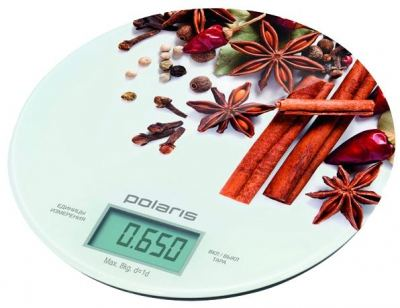 Весы кухонные Polaris PKS 0834DG SPICES (PKS 0834DG SPICES) Изображение №1